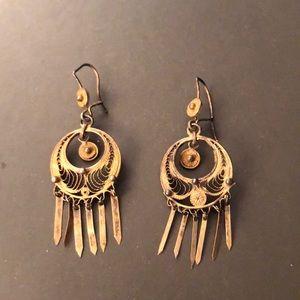 Boho Gold-tone Vintage Dangling Earrings